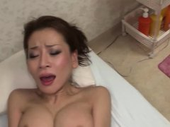 Hairy Japanese hottie gets fucked gets her wet pussy fucked