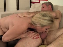 Blonde Granny Cala Craves Fucks Old Man