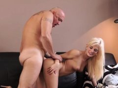 Old red head granny and man threesome creampie Horny
