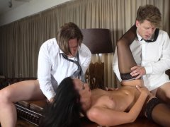 Glamkore Czech babe gets double penetration pounding