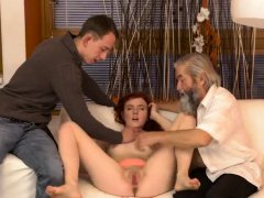Daddy bear fucks girl Unexpected practice with an older