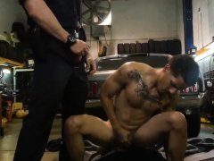 Police man dick and fucking gay men for young boys video