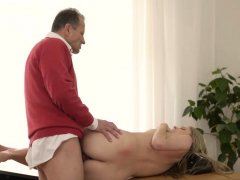 Old guy fuck and girl daddy Stranger in a hefty house
