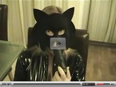 Masked wife dildo play
