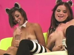 Spicy girls plow the biggest strap-ons and spray ejac53yKf