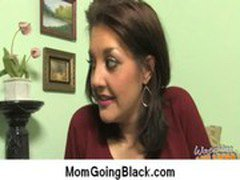 Big black cock on my mom Interracial porn video 2