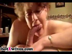 Sexy MILF gets doggystyled and gives blowjob