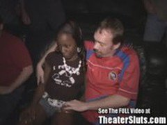 Jayden Tin's Ebony Tits Get Coated In Cum In A Public Porn Theater!