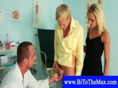 Mmf bisexual doctor threesome
