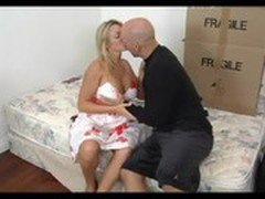 Amazing Blonde Mature seducing her son\'s friend