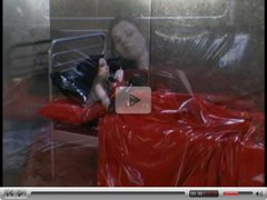 lesbian latex feet strap on