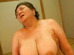 Japanese granny with big boobs , boobs main
