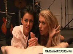 Stacey Lacy and Michelle Moist dominate guy
