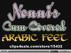 Cum Covered Arabic Feet