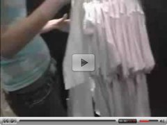 cute teen blows guy in public dressing room