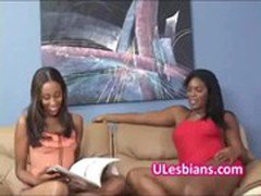 Black diva eats lesbian sisters wet shaved pussy