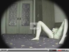 Hot view in bedroom of milf. Hidden cam