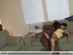 dad and Son's friend waching mom with bbc