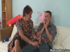 Cock hungry mom jumps on her daughter's BF