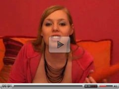 nice babe talks dirty and use vibrator - german dirty talk - csm