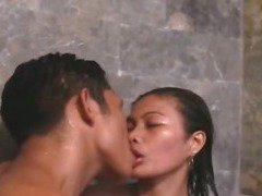Cute Asian teen fucked in the shower