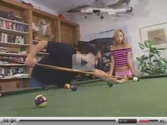 Hot anal on the pool table