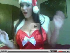 Smoking Hot Brunette Camgirl( Busty Winter ) X-Mas Tits