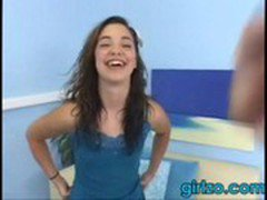 young brunette teen seems happy part-2