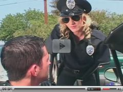 Kinky female cop fucking a guy