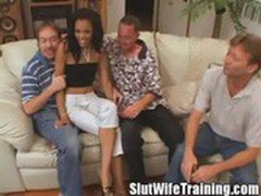 Military Wife Angelina Plays While Husband is Away