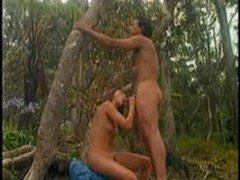babe fuck with her boyfriend in the wood