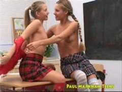 Grace and Susane cute russian  lesbian schoolgirls