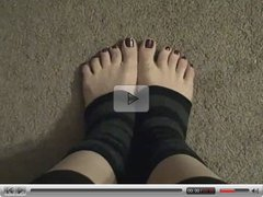 Sexy Pedicured Feet in Ankle Warmers