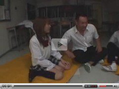japanese girls play with two guys