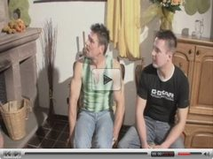 Die Sexnanny Valerie de Winter fucks with two guys - german