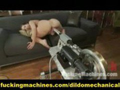 Double Anal Machine Fucking and Sybian Orgasm