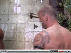 Muscle Bears Fuck & Suck in Outdoor Shower