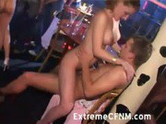 CFNM Party girls fuck male strippers