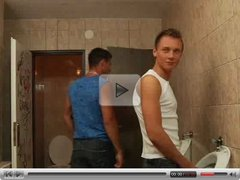 Two Guys Fuck Boy in the Toilet VERY HOT