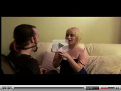 Hairy Femdom Blonde Teases Her Sub