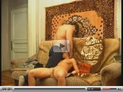 Russian Sex on Sofa