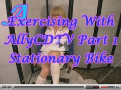 Exercising With AllyCDTV Part 1, Stationary Bike