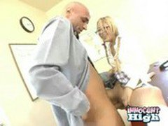 petite blonde asian Kat Kiss gets her tight pussy rammed by her teacher