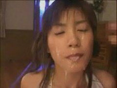 Cute Asian With Nice Tits Sucking Two Cocks