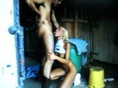 Anita Blond gives a great Blowjob then sex in the barn