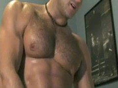 hairy chested Muscle God needs worship