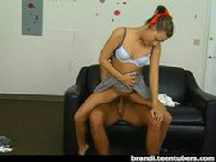 Teen in School Girl Uniform Fucking