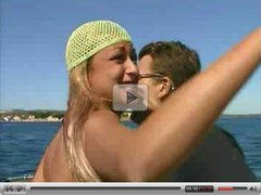 Sex on Boat with French Blond. Anal