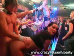 Drunk Girls Fuck Strippers at Party