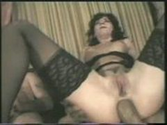 Anal greek brunette - NO FAKE - Extreme and rough group sex as hubby watches guys fuck wifey